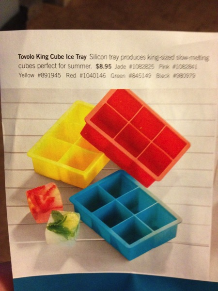 photo of ice cube tray for very large ice cubes